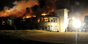 Milburn Country Club in Flames