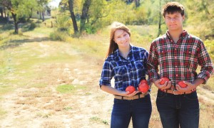 Brother and Sister Work on Family Tomato Farm During Summer