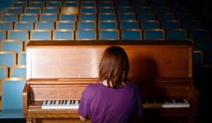 Senior Plays Piano for Her Own Enjoyment