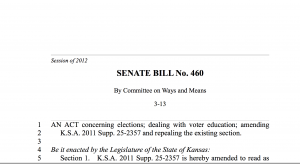 SB 460: Voter Education Program