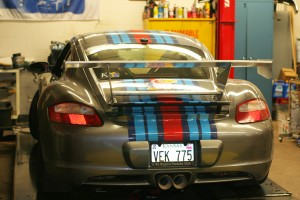Senior Designs and Builds Rear Spoiler for Racing Porsche