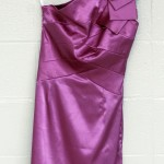 Satin prom dress by Emily Lang