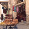Bread cart outside of the church Jesus&#039; tomb is said to be in, in the Christian quarter of Jerusalem.