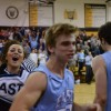 The crowd stormed the court after the game. Photo by Jake Crandall