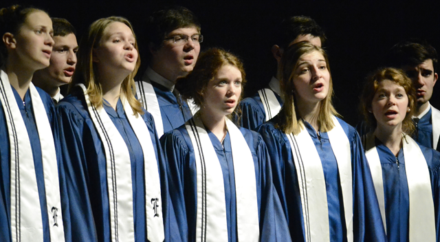 The Choraliers perform at the district choir festival. Photo by Hailey Hughes.
