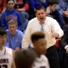 East coach, Coach Hair, attempts to intensify the players game during the final quarter. Photo by Hailey Hughes