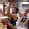 Senior Gunnar Englund takes the ball up in the paint. Photo by James Wooldridge