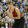 Sophomore Chace Prothe blows kisses to the audience during the sophomore boys dance. Photo by Morgan Browning