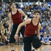 Sophomores Taylor Stover and Chase Prothe perform their dance taught by the Lancer Dancers. Photo by Kaitlyn Stratman
