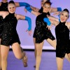 Members of the Varsity team perform their Jazz routine . Photo by Hailey Hughes