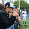 Freshman Jonah Watt and the team watch their dream of winning State slip through their fingers as the Lancers hit two fly balls and strike out in the seventh inning. The game ended 5-3, Cougars. Photo by James Wooldridge