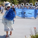 Former teacher Yoda, leads the Band during the parade. Photo by Morgan Browning