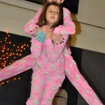 Freshman Sam Shout gives freshman Sarah Grimm a piggy-back ride. Photo by Ellie Thoma