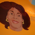 """A picture of """"Ruby Jean"""" is up on the wall. Photo by Morgan Browning"""