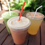 "The three drinks mentioned in this review: the ""Green Dream"" smoothie, the ""Citrus Detox"", and the ""Ruby Jean's Lemonade"". Photo by Morgan Browning"