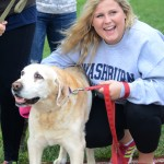 Senior Molly Manske poses with dog, Toby, for a picture. Photo by Allison Stockwell