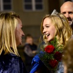 Senior Chloe Kerwin laughs with her mom after being crowned homecoming queen. Photo by Diana Percy