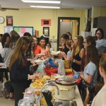 Friendsgiving was held in the foods classroom. Photo by Callie McPhail