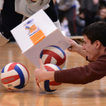 """Senior Lance Meng competes in the """"Hungry Hippo"""" competition. Photo by Morgan Browning"""