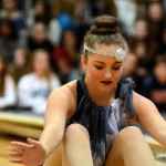Freshman Scout Rice performs during the JV  Lancer Dancer Routine.  Photo by Tess Iler