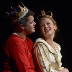"Seniors Tyler Armer and Hannah Eldred sing ""Boys and Girls"". They had the roles of Queen and King. Photo by Abby Blake"