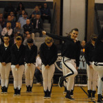 JV drill team performs dance at half time. Photo by Audrey Kesler