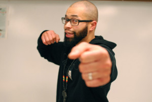 Teacher Working on Hip Hop Album