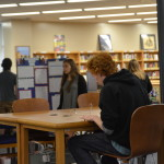 English class students present in the library