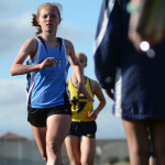 Junior Libby Wilson runs the 800m.  Photo by Tess Iler