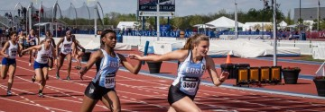 Girls' Track 4x1 Breaks School Record