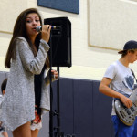 Junior Harper Mundy sings for the crowd at the pancake breakfast. Photo by Lizzie Kahle