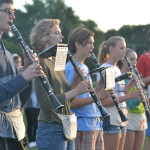 "The clarinet section practices ""Arabian Nights"" for the Rockhurtst game on Friday September 16th. Photo by Morgan Plunkett"