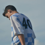 Sophomore Eren Eksinar catches his breath as he gets ready to sub out and take a water break. Photo by Morgan Plunkett