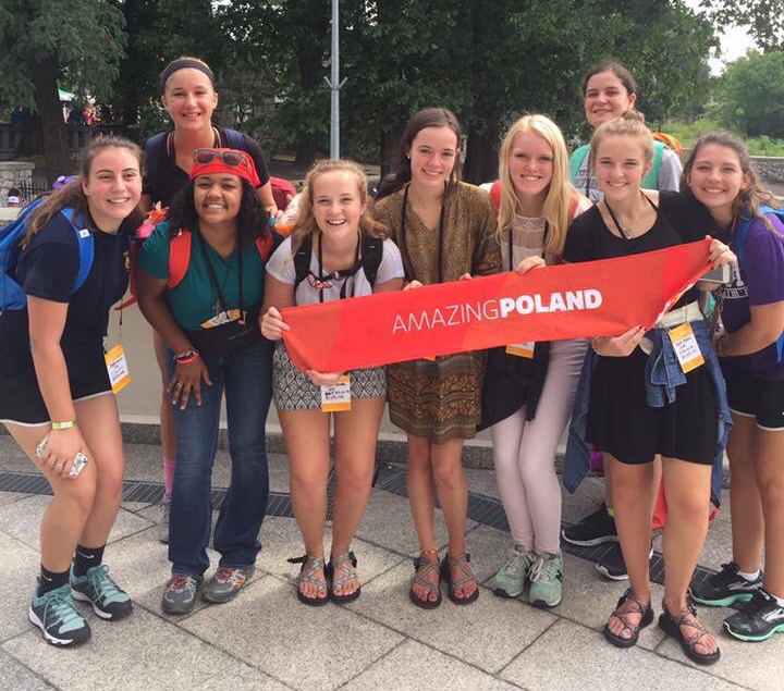 Junior Kirsten Erickson gets CAS hours for her pilgrimage to Poland. Photo courtesy of Kirsten Erickson