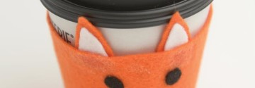 Fall DIY: Fox Coffee Cup Sleeve