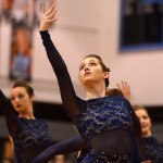 Junior Payton Lieb strikes a pose during the dance performed by the Lancer Dancers. Photo by Katherine Odell